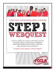 FCCLA Step1 Webquest